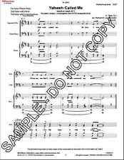 NEW Yahweh Called Me for piano (organ) , congr. & SATB acappella MLB-130722.1