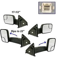 2003-2008 Dodge Ram 1500/2500/3500 New Flip-Out Towing Mirror Pair Heated Power