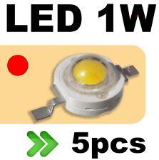 535/5# LED 1W Rouge --- 5pcs