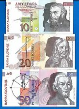 Slovenia P-11 P-12 P-13 Year 1992 Uncirculated Set # 4 FREE SHIPPING