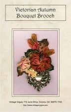 Victorian Autumn Bouquet Brooch - Pattern by Janet Stauffacher - Wired Ribbon