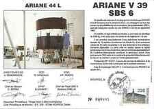 Timbre souvenir philatélique Cosmos Ariane V39 SBS6 lot 14984