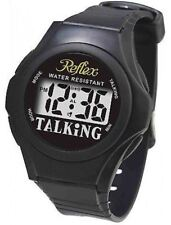 Reflex Talking Watch Blind Partially Sighted Black Strap Water Resistant