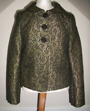 Beautiful Betty Jackson box jacket size 10, gold and black tapestry look