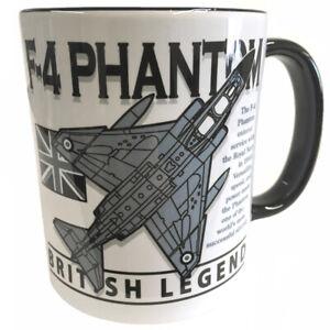 McDonnell Douglas F-4 Phantom 11 RAF/US Navy Military Aircraft Grey Mug.
