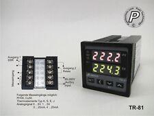 TR-81 PID u. On/Off Temperaturregler  Sensor u. Analogeing., SSR- & Relaisausg.