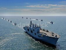 Royal Navy Helicopter Carrier HMS Ocean at sea 10x8 Inch Reprint Photo