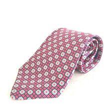 Gianfranco Valentino Men's 100% Italian Silk Classic Neck Tie Red Blue NWOT