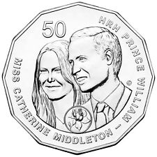 2011 PNC Royal Wedding Prince William & Kate Middleton Unc 50c Coin