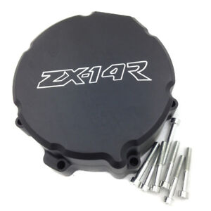 For 2006-2014 2013 Kawasaki ZX-14R ZZR1400 Left Side Stator Engine Cover Black