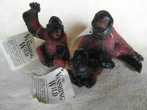 THE VANISHING WILD ORANGUTAN WEIBCHEN KIND AFFEN 1990 SAFARI k14