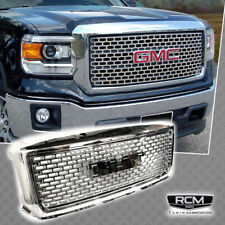 2014 2015 GMC Sierra Denali Style Front Bumper Hood Grill Chrome Grille