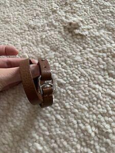 Aigner Armband Braun Leder Neuwertig
