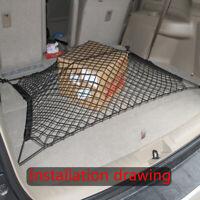 Car SUV Rear Cargo Trunk Storage Net Flexible Internal Organizer Black Tool