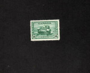 CANADA MNH 14 CENT GREEN RAM TANK STAMP SCOTT # 259