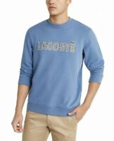 Lacoste Mens Sweater Blue Size 3XL FR 8 Crewneck Embroidered Pullover $140 #144