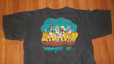 Vintage 90's (2 Sided) WRANGLER JEANS (or nothing) T-Shirt XXL western Cowboy