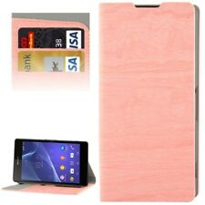 Case Bumper Protective Wood Effect Pouch for Sony Xperia Z2 L50w