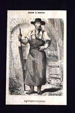 Figurini di minatori - Il fonditore sassone Incisione del 1869