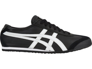 ONITSUKA TIGER DL408.9001 MEXICO 66 Mn's (M) Black/White Leather Lifestyle Shoes