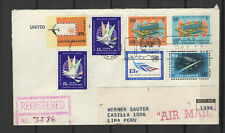 Nations Unies New-York Peru Lima 7 timbres sur lettre tampon date 1966/B5N-U16