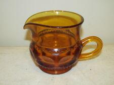 Vintage Indiana Glass Amber Kings Crown Creamer VFC
