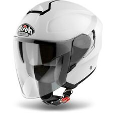 CASCO HELMET JET HUNTER PINLOCK READY COLOR WHITE GLOSS AIROH  SIZE XS