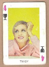 1960s Spanish Pop Star Trade Playing Card UK Iconic Model Actress Singer Twiggy