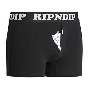 Rip N Dip Peek A Nermal Mens Underwear Boxer Shorts - Black All Sizes