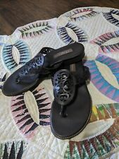Brighton Cedar Style dark brown flip flops thong Sandals 9.5 Narrow