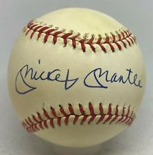Mickey Mantle Single Signed Baseball Autographed AUTO JSA LOA NY Yankees HOF