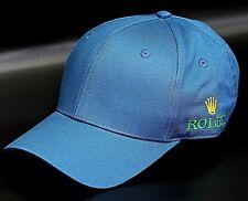 Rolex Club Official BaseBall Cap 100%Cotton Made Superme Quality Mens Watch-Blue