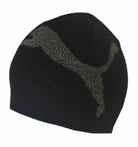 Puma Beanie Hat Essential Logo Big Cat Mens One Size Black 100% Genuine New