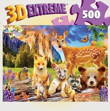 MASTERPIECES 3D EXTREME PUZZLE CUTE CRITTERS MICHAEL SEARLE 500 PCS #31686