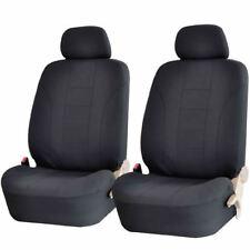 NEW 4 PIECE PREMIUM BLACK DOUBLE STITCH FRONT LOW BACK SEAT COVERS SET FOR VANS