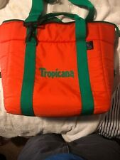 Tropicana Ice N Tote Vintage Insulated Zip Closure Bag Cooler Rare Collectible
