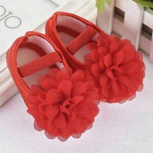 Baby Girls Shoes Cute Flower Newborn Toddler Soft Cotton Anti-Slip First Walker