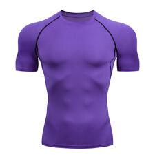 Hombres Camisa manga corta de Compresión Deporte Gimnasio Entrenamiento Rápido Seco Ajustado Camiseta