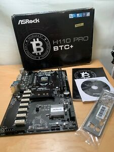 ASRock H110 Pro BTC+ 13x PCI-x Motherboard -ref125