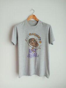 Rare Vintage Kareem Abdul Jabbar Caricature 80s T-shirts NBA Basketball Lakers