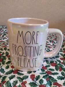 "Rae Dunn ""More Frosting Please"" Iridescent Mug. New. HTF."