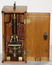 1896 ANTIQUE BAUSCH & LOMB BRASS OPTICAL MICROSCOPE # 21038