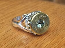 Winchester Western Super 303 British Bullet Casing Adjustable Ring w/ Crystal