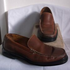 COLE HAAN ~INDIA~ MENS BROWN LEATHER LOAFERS ~ 9 M