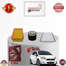 Filtres Kit D'Entretien + Huile Fiat Punto 1.4 8V 57KW 77CV Partir 2008 ->2012