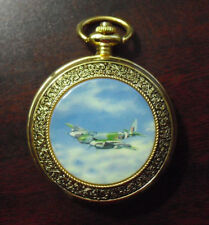 Rare Franklin Mint Mosquito Fighter Plane Prototype Pocket Watch Look