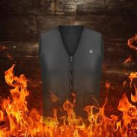 Ropa de hombre USB calefacción chaquetas Abrigo calentamiento Chaleco Calentador