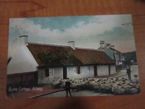 Vintage 1913 Posted Burns' Cottage Alloway England Burns Studio Series Postcard