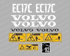 Volvo EC17c Mini Aufkleber Bagger Komplettset mit Sicherheit Warnung