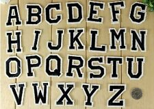 1 x Letter A-Z Embroidered Iron On Patch Sew Motif DIY Alphabet Letters